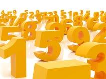 Figure arancioni Fotografia Stock