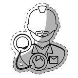 Figure arrested man with handcuffs icon Stock Photography