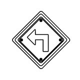 Figure arrow sign inside the metal notice. Illustration design Stock Images
