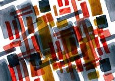Figure astratte in acquerello Fotografia Stock