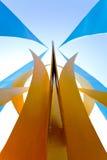 Figure astratte della curva del metallo Fotografia Stock