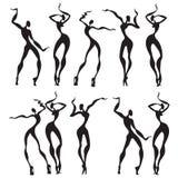 Figure astratte di dancing Fotografia Stock Libera da Diritti