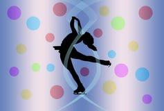 figure att åka skridskor för silhouette Royaltyfri Fotografi
