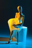 Figure avec du papier hygiénique Photos stock