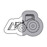 Figure backhoe loader icon Royalty Free Stock Photography