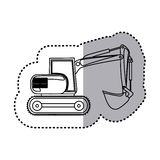 Figure backhoe loader icon Royalty Free Stock Photo