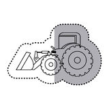 Figure backhoe loader icon Royalty Free Stock Photos
