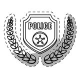 Figure badge police signal icon. Illustration Stock Photos