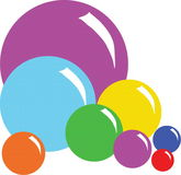 A figure is a ball. A vectorial image of figure is a ball of different sizes and color Stock Illustration