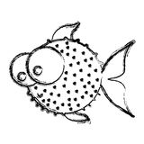 Figure balloon fish icon Royalty Free Stock Photo