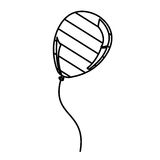 Figure balloon with stripes independece day icon. Illustraction design Stock Image