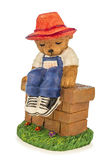 Figure of a bear with hat Royalty Free Stock Images
