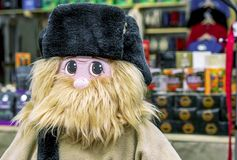 The figure of a bearded brownie in the gift shop stock photos