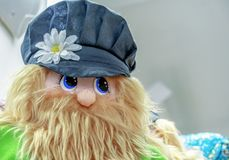 The figure of a bearded brownie in the gift shop stock photography
