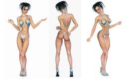 Figure of beautiful sexy woman. Royalty Free Stock Photo