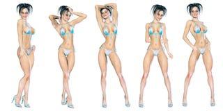 Figure of beautiful sexy woman. Stock Image