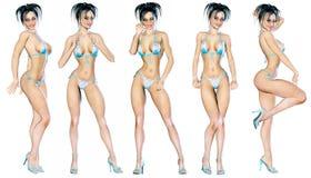 Figure of beautiful sexy woman. Royalty Free Stock Photography
