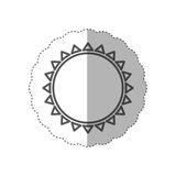 Figure beautiful sun abstract icon Royalty Free Stock Images