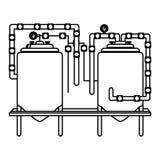 Figure beer tanks icon image design. Illustration Stock Photo