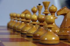 Figure in bianco e nero di scacchi Fotografia Stock