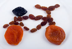 Figure Bike from dried fruits Stock Photos