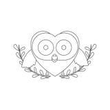 Figure bird shaped heart icon Royalty Free Stock Photo
