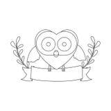 Figure bird shaped heart icon Stock Image