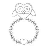 Figure bird shaped heart icon Stock Photography