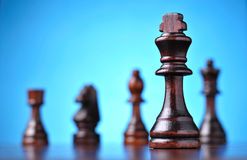 The figure of the black chess king Royalty Free Stock Photo