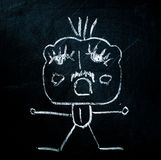 Figure on blackboard Royalty Free Stock Image