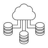 Figure blue cloud hosting data center Royalty Free Stock Photos