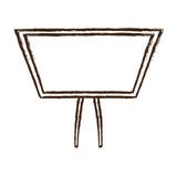 Figure board study related icon Royalty Free Stock Image