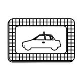 Figure border taxi side car icon. Illustration design Royalty Free Stock Photo