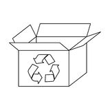 Figure box open with recycle symbol icon. Illustraction design Royalty Free Stock Photo