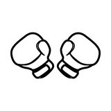 Figure boxing gloves icon image. Illustration design Stock Photo