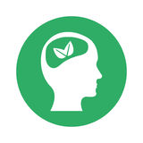 Figure brain leaves icon image. Illustration design Royalty Free Stock Photos
