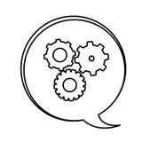 figure bubbles with gears symbol icon Photographie stock libre de droits