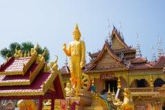 Figure of Buddha and Buddhist palace Stock Photos