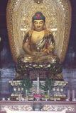 The figure of the Buddha in Yuefei Memorial(Jiaxing,Zhejiang,China) Royalty Free Stock Photos