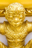 Figure of buddhist angel in a temple Stock Images
