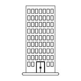 Figure building line sticker image. Figure city building line sticker image icon,  illustration Royalty Free Stock Image