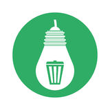 Figure bulb care environmental design. Illustration Royalty Free Stock Photography