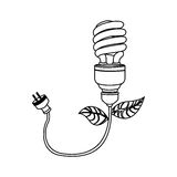 Figure bulb eco cable icon. Image,  illustration design Stock Image