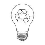 Figure bulb eco icon Stock Photography