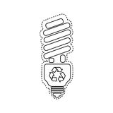 Figure bulb energy saver icon. Illustration design Royalty Free Stock Photo