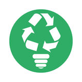 Figure bulb environmental care icon. Image,  illustration Royalty Free Stock Photo