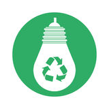 Figure bulb environmental friendly design Royalty Free Stock Photo