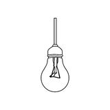 Figure bulb hanging icon image Stock Photos