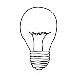 Figure bulb power icon. Illustration design Stock Photography