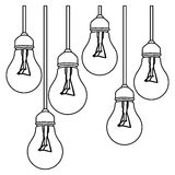 Figure bulbs icon stock image Stock Photo